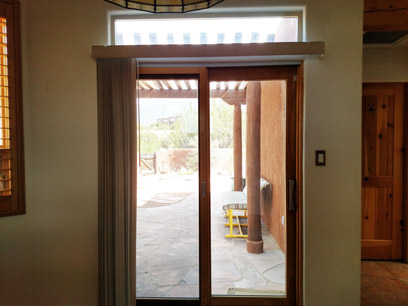 Dining area door